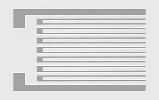 ひずみゲージ Cu合金パターニングの技術紹介