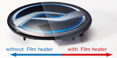 Transparent film heater